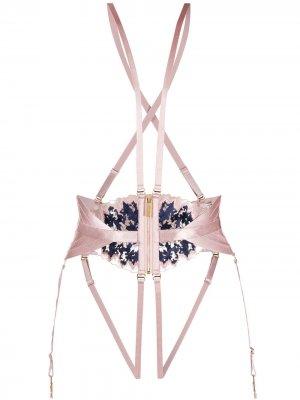 Портупея со вставками Bordelle. Цвет: розовый
