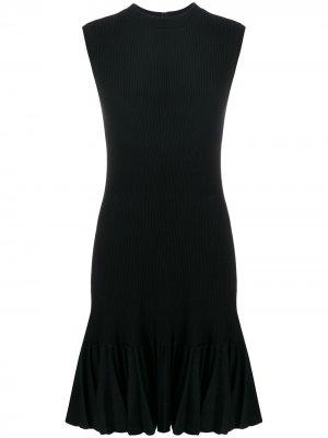 Платье без рукавов со складками на подоле Alaïa Pre-Owned. Цвет: черный