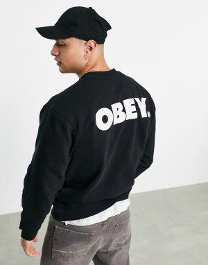 Черный свитшот Bold-Черный цвет Obey