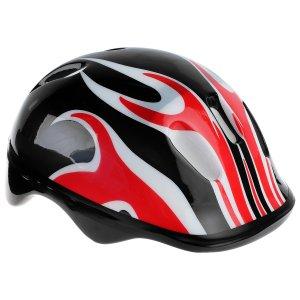 Шлем защитный детский ot-h6, размер m (55-58 см), цвет чёрный ONLITOP