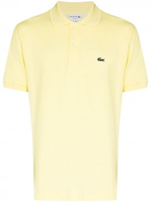 Рубашка поло с вышитым логотипом Lacoste. Цвет: желтый