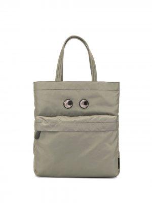 Большая сумка-тоут Eyes Anya Hindmarch. Цвет: зеленый