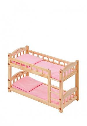 Игрушка Paremo Двухъярусная кроватка. Цвет: разноцветный