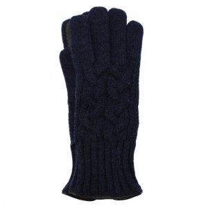 Кашемировые перчатки Kiton. Цвет: синий