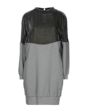 Короткое платье EUROPEAN CULTURE. Цвет: серый