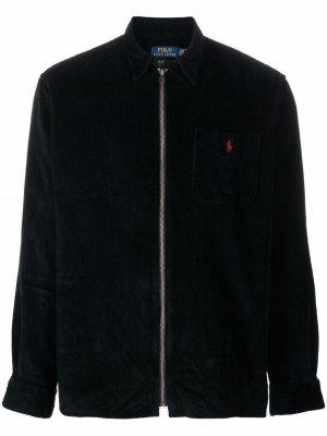 Вельветовая куртка с узором Polo Pony Ralph Lauren. Цвет: черный