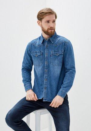 Рубашка джинсовая Dairos. Цвет: синий