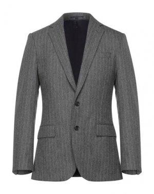 Пиджак J.CREW. Цвет: свинцово-серый