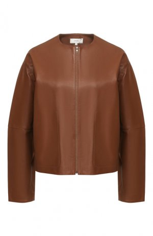 Кожаная куртка Vince. Цвет: коричневый