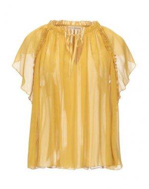 Блузка ULLA JOHNSON. Цвет: охра