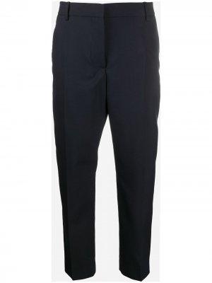 Укороченные зауженные брюки Marni. Цвет: синий