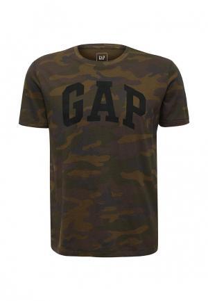 Футболка Gap. Цвет: хаки
