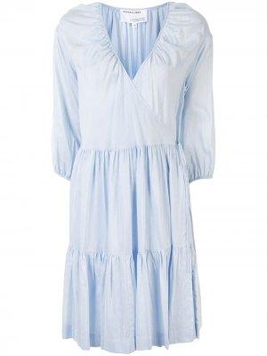 Расклешенное платье с запахом Designers Remix. Цвет: синий