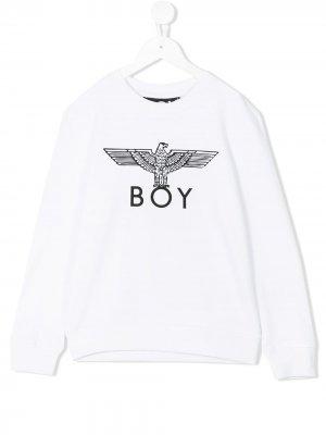 Толстовка с принтом логотипа Boy London Kids. Цвет: белый