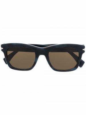 Солнцезащитные очки в квадратной оправе LANVIN. Цвет: синий
