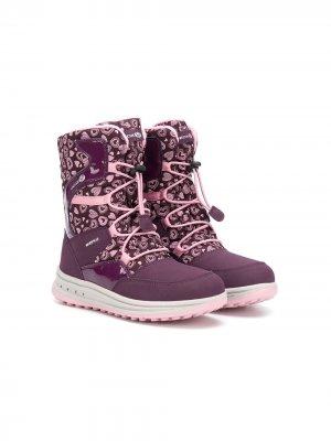 Ботинки Roby WPF Geox Kids. Цвет: розовый