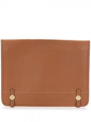 Портфель Steve pre-owned Hermès. Цвет: коричневый