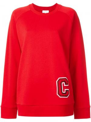 Толстовка с логотипом C Ck Calvin Klein. Цвет: красный