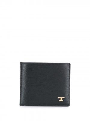 Tods бумажник с логотипом Tod's. Цвет: черный