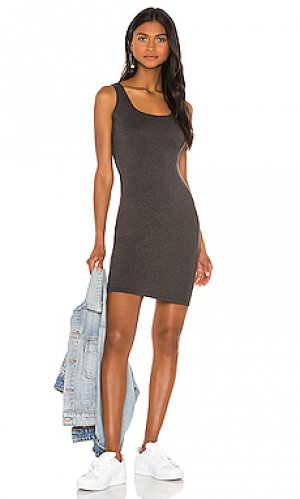 Платье xyz LA Made. Цвет: уголь