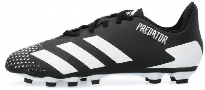 Бутсы для мальчиков adidas Predator 20.4 FXG J, размер 35.5. Цвет: черный