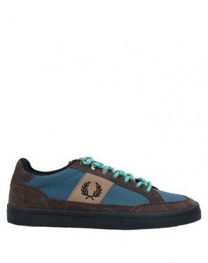 Кеды и кроссовки FRED PERRY. Цвет: коричневый