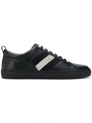Кроссовки на шнуровке с контрастной полосой Bally. Цвет: black