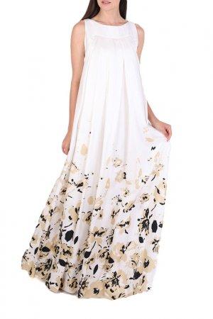 Платье Chapurin. Цвет: черный, бежевый, принт