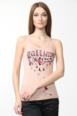 Майка Galliano. Цвет: розовый
