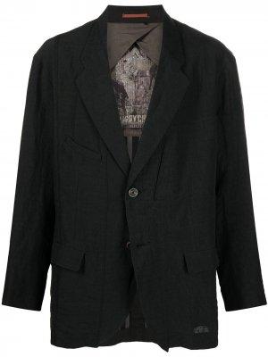 Пиджак свободного кроя Ziggy Chen. Цвет: черный