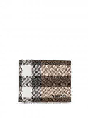 Бумажник в клетку Burberry. Цвет: коричневый