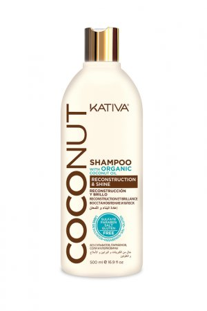 Шампунь с кокосовым маслом Kativa. Цвет: бежевый