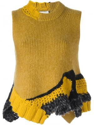 Майка ручной вязки 3.1 Phillip Lim. Цвет: жёлтый и оранжевый