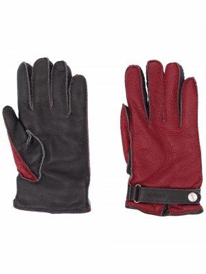 Перчатки с кашемировой подкладкой Kiton. Цвет: красный