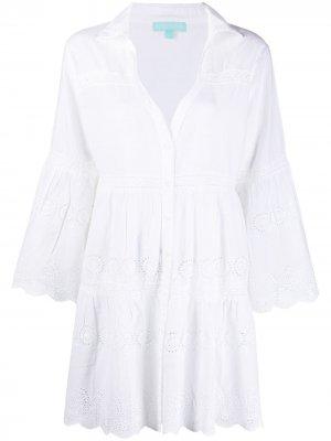 Платье Becky с вышивкой Melissa Odabash. Цвет: белый