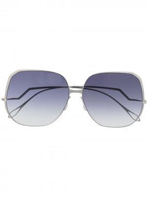 Массивные солнцезащитные очки Felicity Haffmans & Neumeister. Цвет: серебристый
