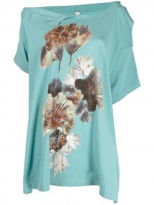 Блузка асимметричного кроя Antonio Marras. Цвет: синий