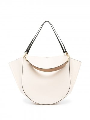 Большая сумка-тоут Mia Wandler. Цвет: нейтральные цвета
