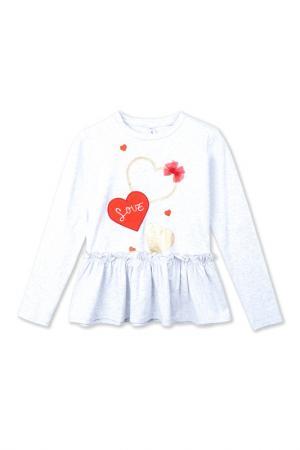Блузка PlayToday. Цвет: светло-серый, золотистый