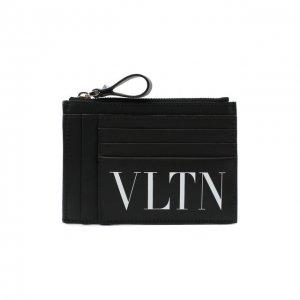 Кожаный футляр для кредитных карт Garavani Valentino. Цвет: чёрный