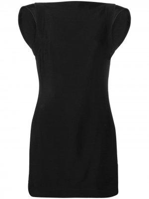 Платье миди с открытой спиной Calvin Klein 205W39nyc. Цвет: черный