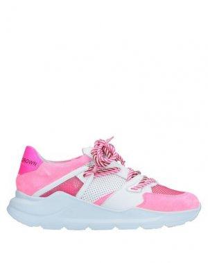Низкие кеды и кроссовки LEATHER CROWN. Цвет: розовый