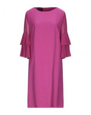 Платье миди CLIPS. Цвет: фуксия