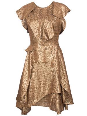 Коктейльное платье Chapurin. Цвет: золотистый