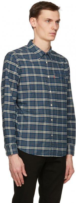 Levis Navy Plaid Sunset One Pocket Shirt Levi's. Цвет: navyplaid