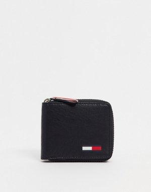 Кожаный бумажник -Черный Tommy Jeans