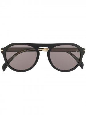Солнцезащитные очки DB 7009/S в круглой оправе Eyewear by David Beckham. Цвет: черный