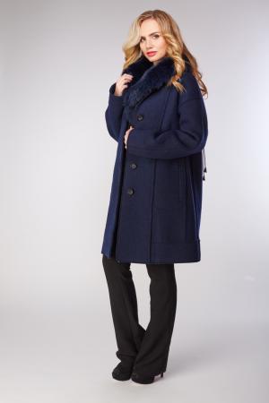 Пальто Violanti на большой размер Visconf/Violanti. Цвет: синий