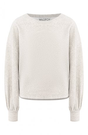 Хлопковый пуловер Wildfox. Цвет: серый