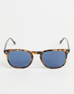 Круглые солнцезащитные очки в черепаховой оправе Vogue-Коричневый VOGUE